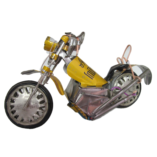 Recycled Metal - Motorbikes (L)