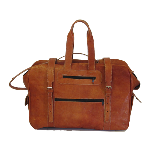 Leather Travel Bags - (M,L)