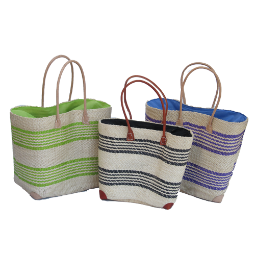 Sisal Bags - Narrow stripe - (M,L)